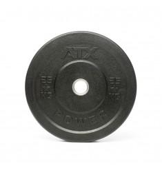 ATX® Rough Rubber Bumper Plates / Hantelscheiben schwarz 25 kg