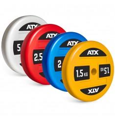 Übersicht ATX® Technique Plate / Technikhantelscheiben von 1,5 bis 5 kg - Made in Germany