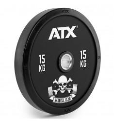ATX® Barbell Club - Full Design Bumper Plates/ Vollgummi Hantelscheibe - 15 kg