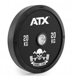 ATX® Barbell Club - Full Design Bumper Plates/ Vollgummi Hantelscheibe - 20 kg