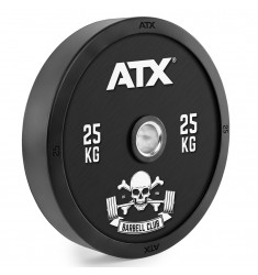 ATX® Barbell Club - Full Design Bumper Plates/ Vollgummi Hantelscheibe - 25 kg