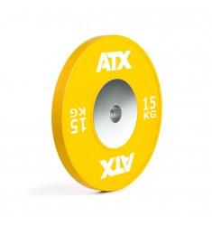 ATX® HQ-Rubber Bumper Plate - Hantelscheibe - gelb - 15 kg