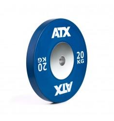 ATX® HQ-Rubber Bumper Plate - Hantelscheibe - blau - 20 kg