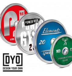 Calibrated Steel Plate DYO - Desing Your Own von 5 kg bis 25 kg