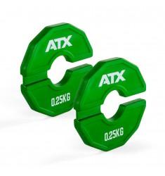 ATX® Add-On Flex Plate / flexibles Zusatzgewicht - 2 x 0,25 kg - Farbe grün