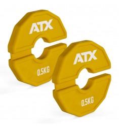 ATX® Add-On Flex Plate / flexibles Zusatzgewicht - 2 x 0,5 kg - Farbe gelb