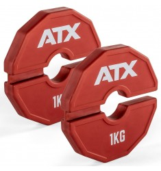 ATX® Add-On Flex Plate / flexibles Zusatzgewicht - 2 x 1 kg - Farbe rot