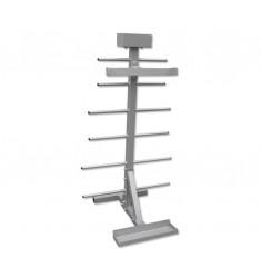 Aerobic-Set-Ständer für 20 Sets - silber