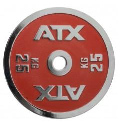 ATX® Powerlifting Hantelscheibe aus Guss mit 25 kg in rot