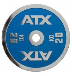 ATX® Powerlifting Hantelscheibe aus Guss mit 20 kg in blau