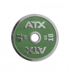 ATX® Powerlifting Hantelscheibe aus Guss mit 10 kg in grün