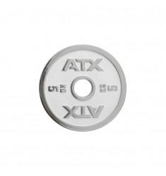 ATX® Powerlifting Hantelscheibe aus Guss mit 5 kg in weiss