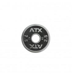 ATX® Powerlifting Hantelscheibe aus Guss mit 2,5 kg in schwarz