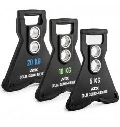ATX® Delta Swing-Weights - Schwungdynamische Hantelscheiben mit 2 Bohrungen 5,0 - 20 KG - PU (Hantelscheiben)