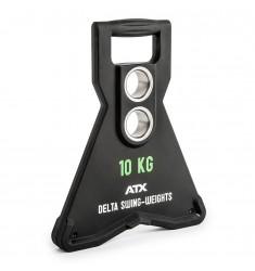 ATX® Delta Swing-Weights 10,0 KG - Schwungdynamische Hantelscheibe mit 2 Bohrungen