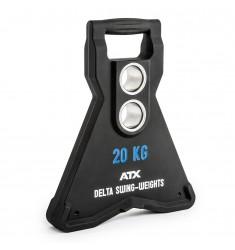 ATX® Delta Swing-Weights 20,0 KG - PU - dynamisch schwingende Hantelscheiben mit 2 Bohrungen