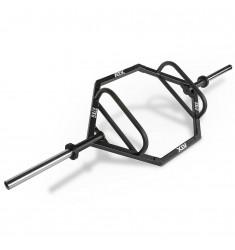 Rahmenhantel ATX® Hex Bar XL ✅ mit extralangen Hantelscheibenaufnahmen - schräge Ansicht