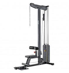 ATX® Lat Machine 740 / Latzuggerät mit 125 kg Steckgewichten (Kraftgeräte) - schräge Ansicht von vorne