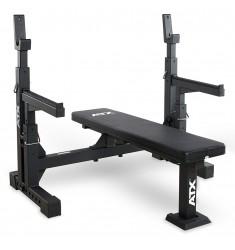 ATX® Bench Press 700 (Hantelbaenke mit Hantelablage) - schräge Ansicht von vorne