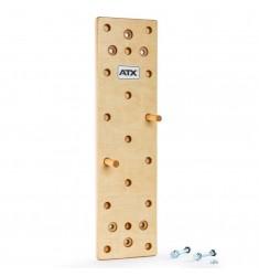 ATX® Pegboard / Kletterbrett aus massivem Buchenholz 120 x 30 cm - Made in Germany