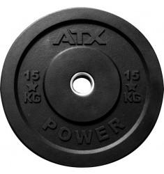 ATX® Rough Rubber Bumper Plates / Hantelscheiben schwarz 15 kg