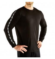 ATX® Longsleeves / Langarmshirts, Größen S bis XL, Farbe Schwarz, Ansicht schräg vorne - ATX® Sportswear Collection