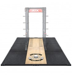 ATX® Weight Lifting / Power Rack Platform XL 3 x 3 m Barbell Club Logo (Abwurfplattformen)