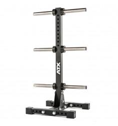 ATX® Weight Plate Tree - Hantelscheibenständer Ø 50 mm - optional rollbar (Ständer / Ablagen) - Schräge Ansicht