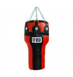TUF WEAR Boxsack Uppercut Leder in rot/schwarz