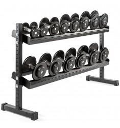 Vorteilspaket! Kompakthantelsatz-Guss 5-20 kg inkl. Rack (Kompakthanteln)