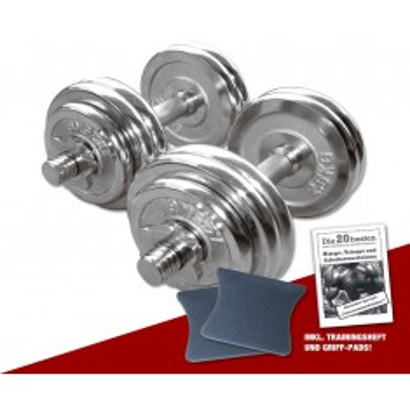 Chrom Kurzhantel-Set 2 x 15 kg