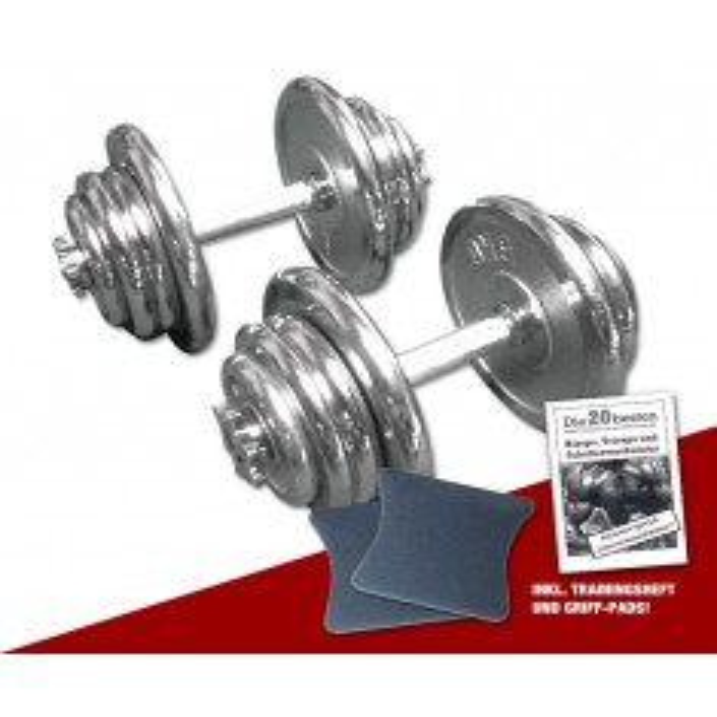 Chrom Kurzhantel-Set 2 x 25 kg