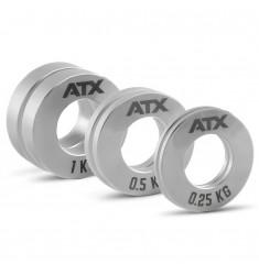 ATX® Mini Fractional Steel Plates - Komplettset 2 x 0,25 + 2 x 0,5 + 2 x 1,0 kg