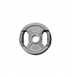 Hantelscheibe Gummi-Gripper - 50 mm - schwarz - 5,0 kg