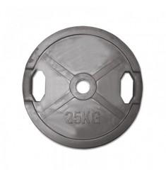 Hantelscheibe Gummi-Gripper - 50 mm - schwarz - 25,0 kg