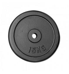 Hantelscheibe Guss - 30 mm - schwarz 15 kg