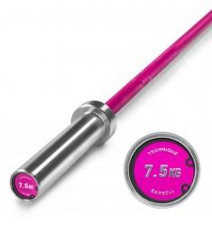Technik Bar 7,5 kg - Aluminium Hantel Pink