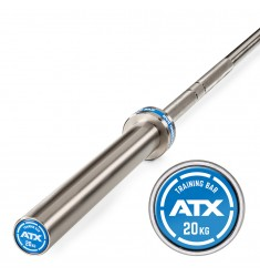 ATX® Training Bar / Trainingshantelstange Chrome, Gewicht 20 kg, 220 cm lang
