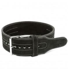 ATX® Power Belt mit Eindornschnalle - Veloursleder - schwarz - Größen S - XXL - Vorderansicht