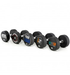 Urethan Dumbbells - Customer Logo - in 2 kg Steps - von 4 kg - 60 kg (CHD/Dumbbells)