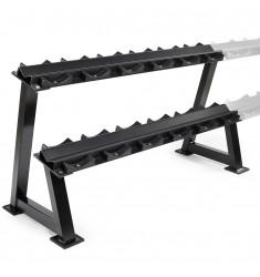 H-Ablage 144 cm schwarz mit Halbschalen - modular erweiterbar! (Ständer / Ablagen)