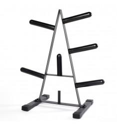 Hantelscheibenständer 50 mm (Ständer / Ablagen) - schräge Ansicht von vorne