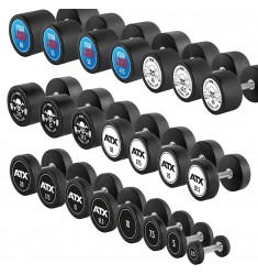 PRO-Style – Rubber Dumbbells / Kompakthanteln - mit Motivauswahl oder Ihrem individuellen Logo - 2,5 – 60 kg / 2,5 kg Steigerung
