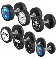 PRO-Style - Rubber Dumbbell - Customer - Satz 5 - 20 KG (CHD/Dumbbells)