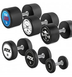 Rubber Dumbbell - Customer - Satz 5 - 50 KG (CHD/Dumbbells)