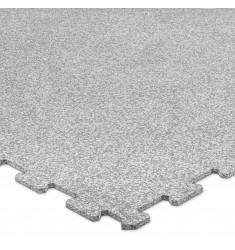 Puzzleplatte - grau / weiß - 956 x 956 x 8 mm (Bodenbelag)