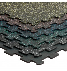 Gymfloor® Puzzleplatte 956 x 956 x 8 mm - schwarz oder mit farbigen Granulaten