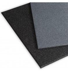 Gymfloor® - Granulat Bodenschutzplatte - Fitness - 1000 x 1000 x 15 mm (Bodenbelag) - Grau, Schwarz