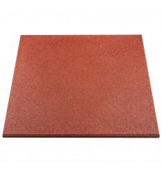 Gymfloor® - Rubber Tile 1000x1000x30 mm - rot / braun - Premium Ausführung