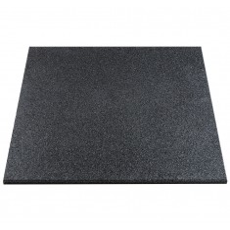 Gymfloor® - Rubber Tile 1000x1000x20 mm - schwarz - Fitness (Bodenbelag Plattenware)